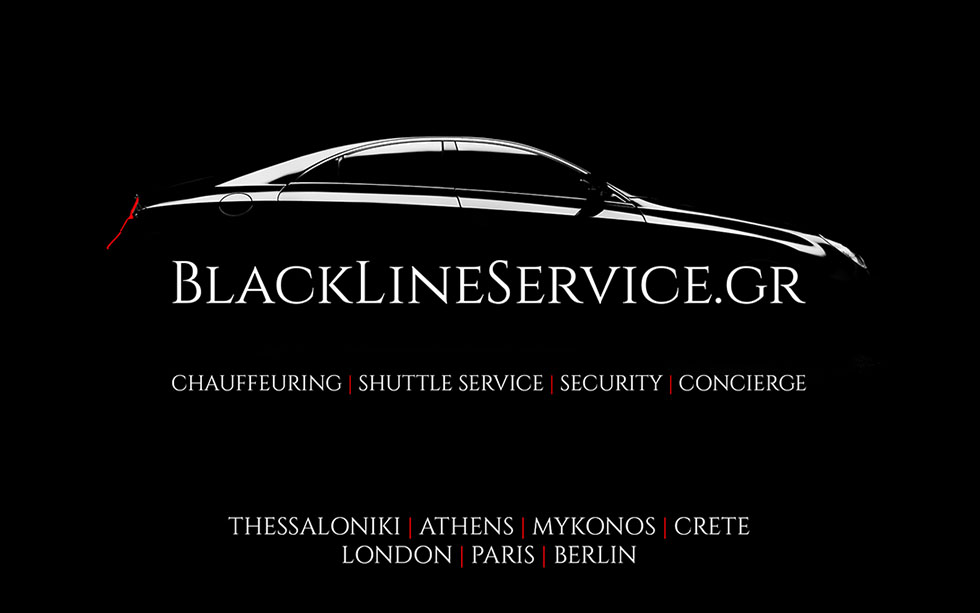 blackline services shuttle service Greece chauffering transfer luxury mercedes security concierge